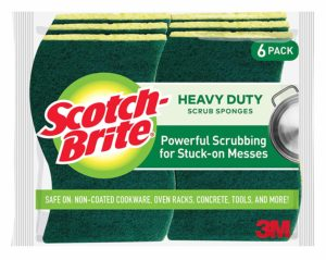 Scotch-Brite Heavy Duty Scrub Sponges, Powerful Scrubbing for Stuck-on Messes, Stands Up to Stuck-on Grime, 6 Scrub Sponges