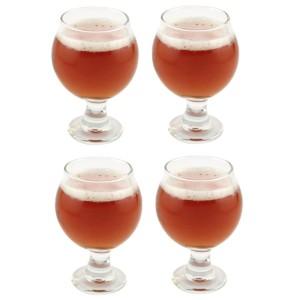 Libbey Belgian Beer Taster Glass 5 oz - 4 Pack w/ Pourer