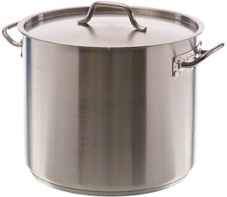 Update International (SPS-32) 32 Qt Induction Ready Stainless Steel Stock Pot w/Cover