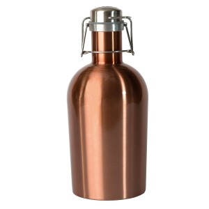 Asobu Coolest Stainless Steel Beer Growler 2 Go, 64 oz, Copper