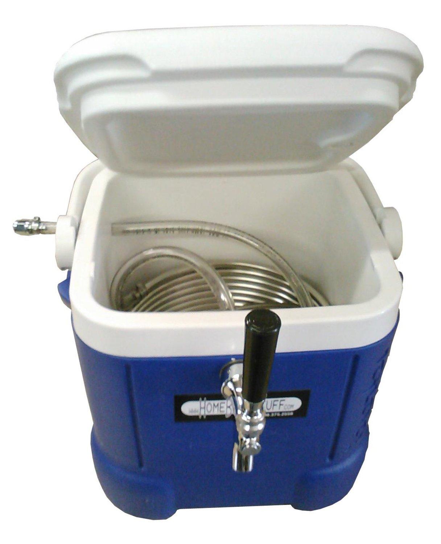 Stainless Jockey Box Draft Keg Beer Cooler Quad 4 70ft Coils Cooler Only