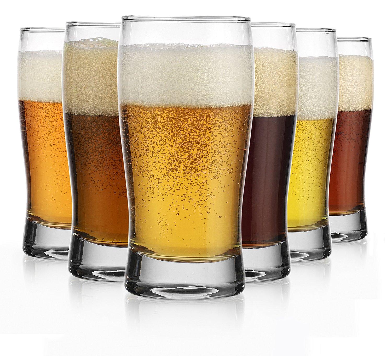 Oktoberfest Set of Six (6) Beer Glass Pilsners Beer Sampler Beer Tasters