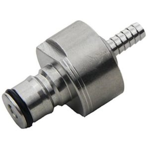 """UP100 Line Cleaning Cap Stainless Carbonation Cap Counter Pressure Bottle Filling,w/ 5/16"""" Barb"""