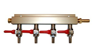 4-way Air Co2 Distributor Manifold 5/16""