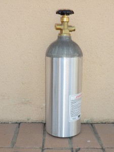 5 lb. Aluminum CO2 Cylinder with CGA 320 Valve