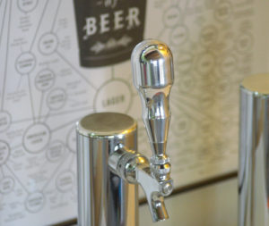 "NEW! CHROME POLISHED HEAVY WEIGHT BEER TAP HANDLE ""THE KNOB"" by Beer Peripherals"