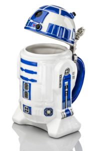Star Wars R2-D2 Stein - Collectible 32oz Ceramic Mug with Metal Hinge