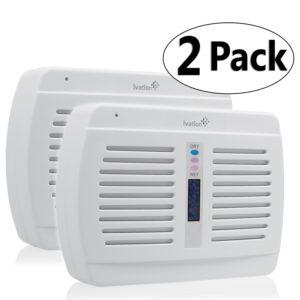 Ivation Reusable Silica Gel Wireless Mini Dehumidifier 2-Pack