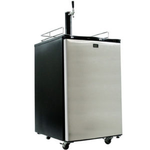KeggerMeister KM2800SS Kegerator Beer Keg Fridge Brew Dispenser - Kegorator