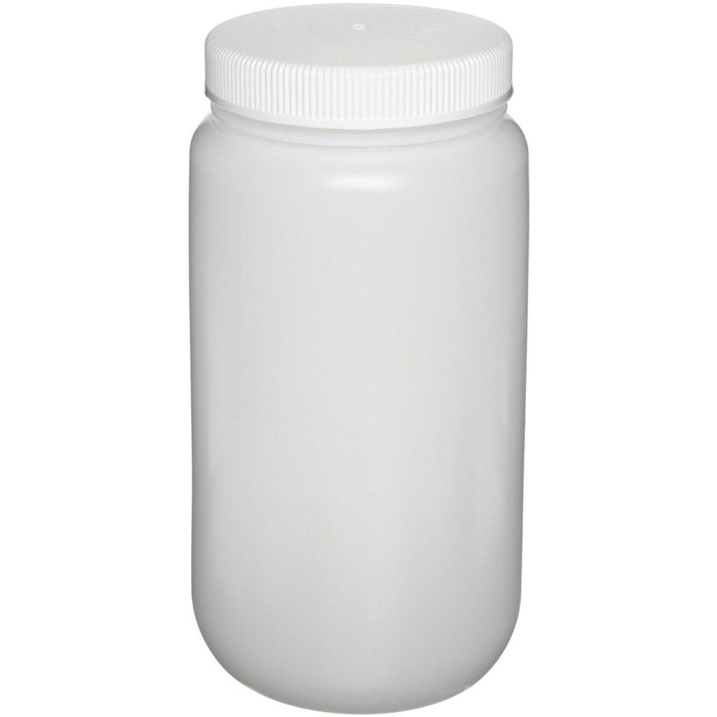 Nalgene 2105-0032 Wide-Mouth Bottle, Polypropylene, 1000mL (Pack of 6)