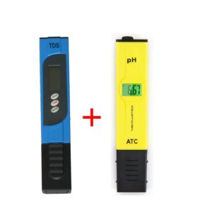 Xcellent Global 0.05pH High Accuracy Digital Pocket Size pH Meter Tester with ACT & Backlit LCD and TDS-3 Handheld TDS Digital Meter with Backlit LCD Combo, Handheld, Portable HG078