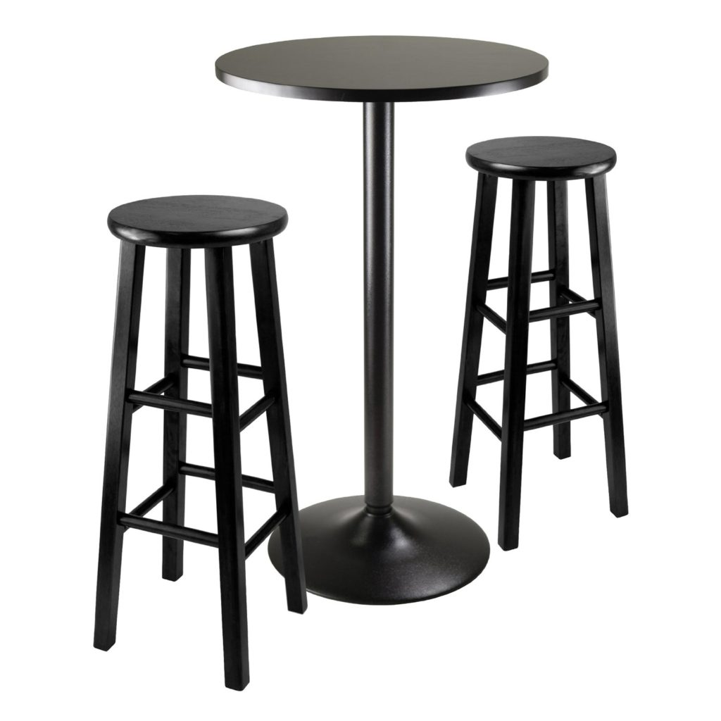 Winsome Obsidian Pub Table Set