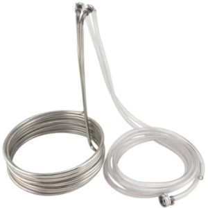 "Super Efficient 3/8"" x 25' Stainless Steel Wort Chiller"