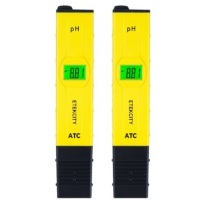 Etekcity 2 Pack 2011 Plus Digital pH Meter, 0.01 Resolution, 0.05 Accuracy Handheld Pen Tester (Yellow)