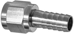 "Kegco BF SNSET516 Swivel Nut Set for MFL 1/4"" Ball Lock Pin Lock Home Brew Fitting, 5/16"", Chrome"