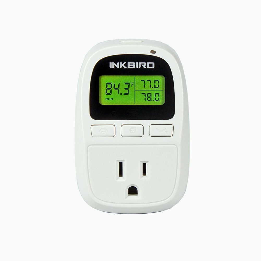 Inkbird C206 10A Heat Mat Temperature Controller with Outlet, 6.56FT NTC Sensor, F and C Degree, 50-108°F