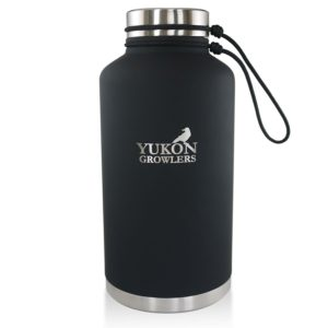 YUKON GROWLERS Vacuum Insulated Stainless Steel Beer Growler or Water Bottle - Cold for 24 Hours or Hot for 12 Hours - 64 OZ
