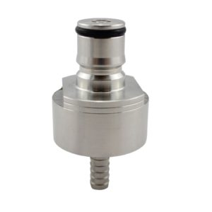 Stainless steel Carbonation Cap With Dip Tube For Liquid And Gas