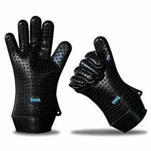 LovIT Scientific The Best Heat Resistant Silicone Gloves for the Grill, Stove and Oven Original Lovit Scientific - No-slip Oven Mitts - More Effective Than Pot Holders and Hot Pads