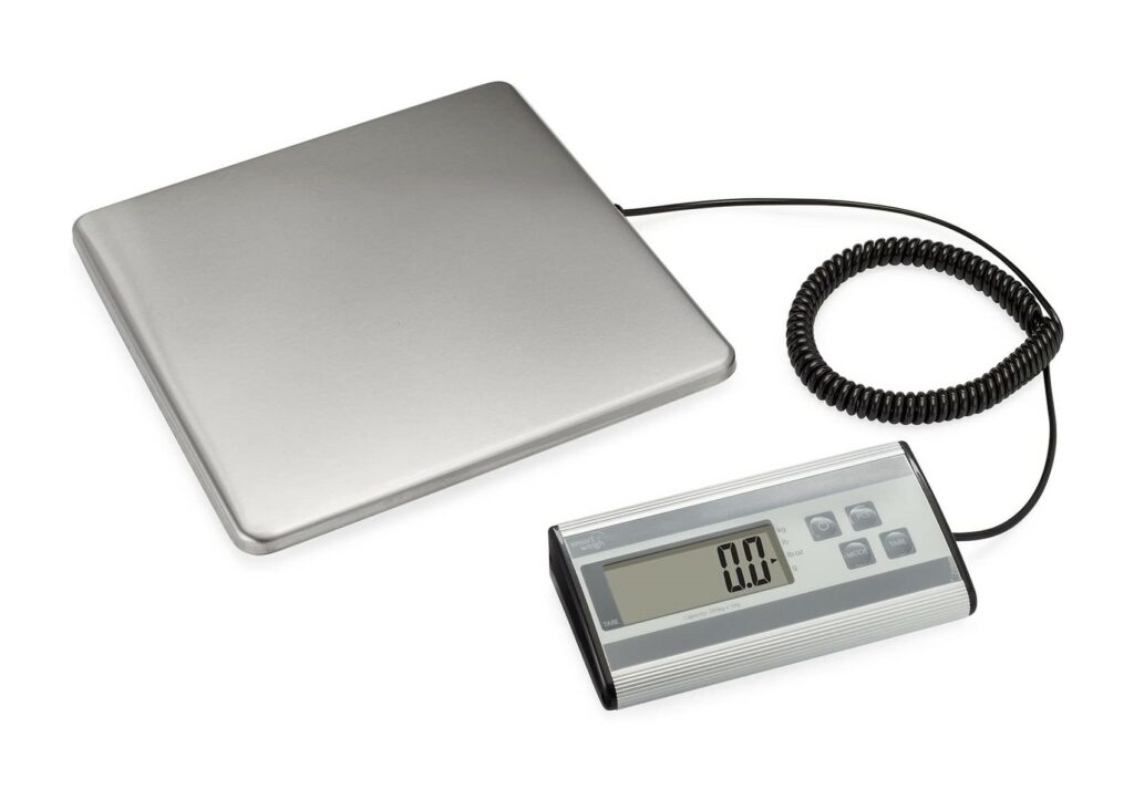 Smart Weigh Digital Heavy Duty Shipping and Postal Scale with Durable Stainless Steel Large Platform, 440 Pound Capacity x 6 oz Readability , UPS USPS Post Office Postal Scale and Luggage Scale