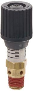"Control Devices CR Series Brass Pressure Relief Valve, 0-100 psi Adjustable Pressure Range, 1/4"" Male NPT"