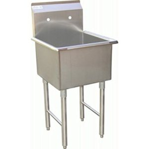"DuraSteel Stainless Steel Utility 1 Compartment Preperation Sink 24""x 24"" SH24241P NSF"