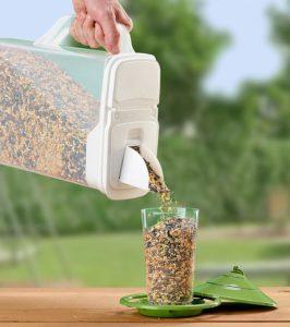 Buddeez Dispenser for Pet Food and Bird Seed