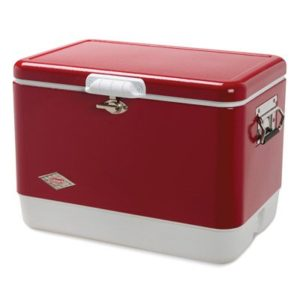 Coleman Steel Belted Cooler, Red, 54-Qt.