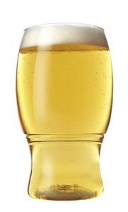 TOSSWARE 18oz Shatterproof Beer & Cocktail Glass, SET OF 12 BPA-Free Upscale Recyclable/Disposable Plastic Pints