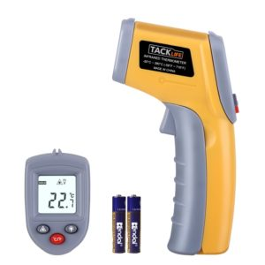 Tacklife IT-T02 Classic Infrared Thermometer -58°F ~ 716°F(-50℃~380℃) Non-contact Digital Laser Temperature Gun with LCD Backlit for Cooking
