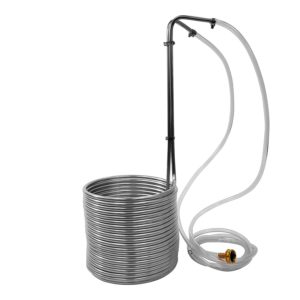"Super Efficient 3/8"" x 50' Stainless Steel Wort Chiller"