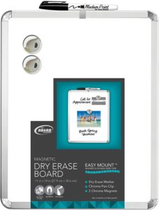"Board Dudes 11"" x 14"" Metalix Magnetic Dry Erase Board Colors May Vary (CXY22)"