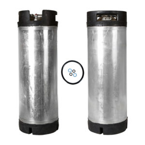 5 Gallon Ball Lock Keg Two Pack with O-Ring Kit – Dual Handle – Reconditioned