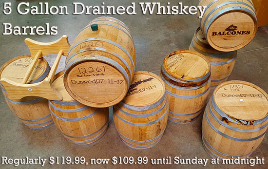 used whisky barrels