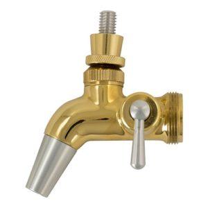 Intertap Forward Sealing Gold Plated Flow Control Faucet D1208