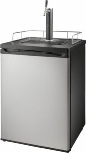 Insignia™ - 5.6 Cu. Ft. 1-Tap Beverage Cooler Kegerator - Stainless Steel