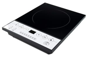 Weleyas Portable 1800W Platinum Energy Efficiency Electric Induction Cooktop Countertop Single Burner with Power, Temperature and Timer Setting
