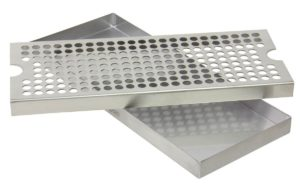 "Kegco KC DP-125 Beer Drip Tray Surface No Drain Mount, 12"", Stainless Steel"