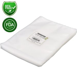 """Vacuum Sealer Bags 100 Gallon Size 11""""x16"""" . KitchenBoss Commercial Grade for Food Vacuum Storage Bags for Food Saver and Sous Vide, BPA Free and FDA Approval"""