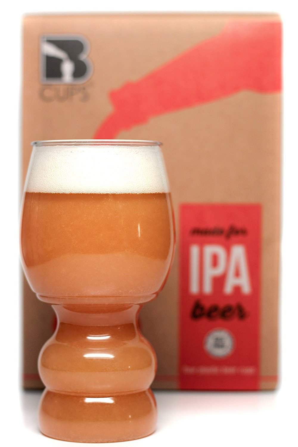 B Cups 17oz Plastic IPA Craft Beer Glass SET OF 4 - BPA Free Outdoor Dishwasher Safe Craft Beer Cups
