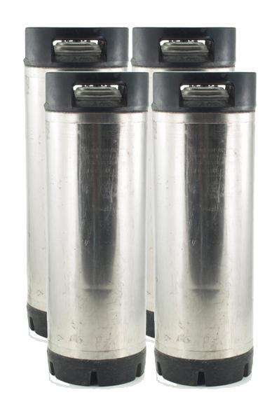 Set of Four 5 Gallon Ball Lock Kegs - Used
