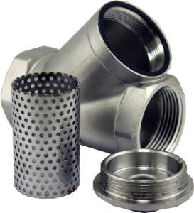 Inline Y Filter Strainer 304 Stainless Steel Pipe Fitting Water Beer Wort Oil