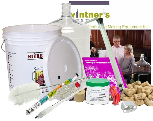 Vintner's Best Wine Making Equipment Kit w/glass carboy