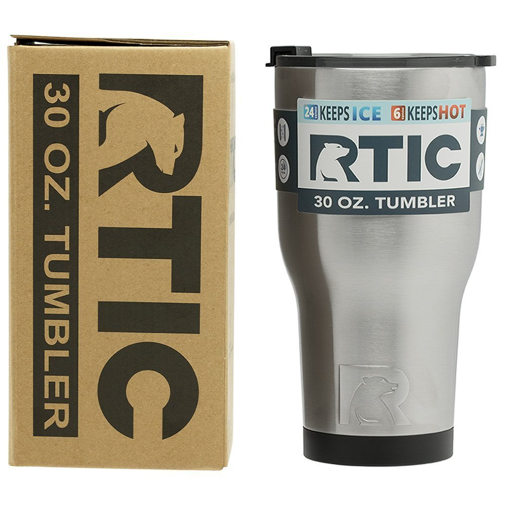 RTIC Double Wall Vacuum Insulated Tumbler, 30 oz, Stainless Steel