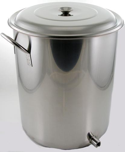 10 Gallon 1 Weld Volume Marked Brew Pot