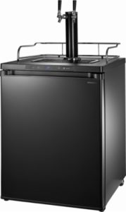 Insignia™ - 5.6 Cu. Ft. Dual Tap Beverage Cooler & Kegerator - Matte Black