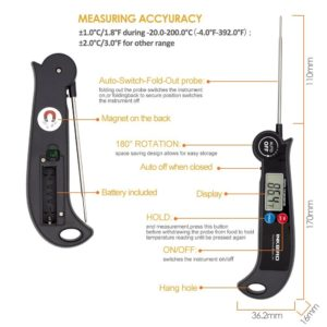 Inkbird HET-F001 Digital Food Cooking Thermometer Fast Read Meat Kitchen Grill Smoker Milk BBQ Thermometer