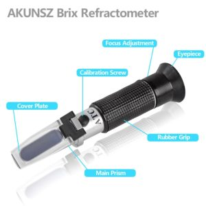 Brix Tester Beer Refractometer AKUNSZ Brix Refractometer & Gravity Tester - Specific Gravity 1.000-1.130 & Brix 0-32% - for Home Brewing
