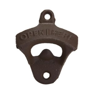 Leegoal Rustic Cast Iron OPEN HERE Bottle Opener Vintage Style Wall Mount Man Cave