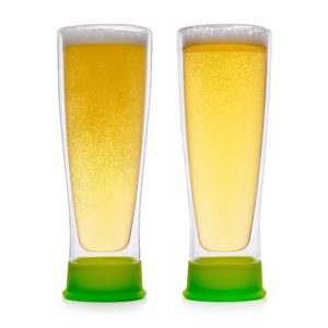 Eparé Insulated Beer Drinking Glasses (13 oz, 390 ml) – Double Wall Tumbler Glass Mug – Cup for Pilsner, Craft IPA, Juice, or Water – 2 Glasse